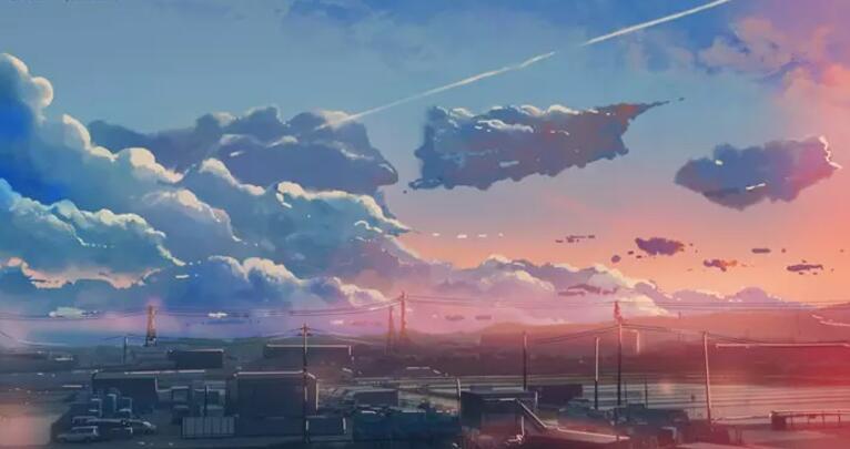 黯淡暗紫色的天空