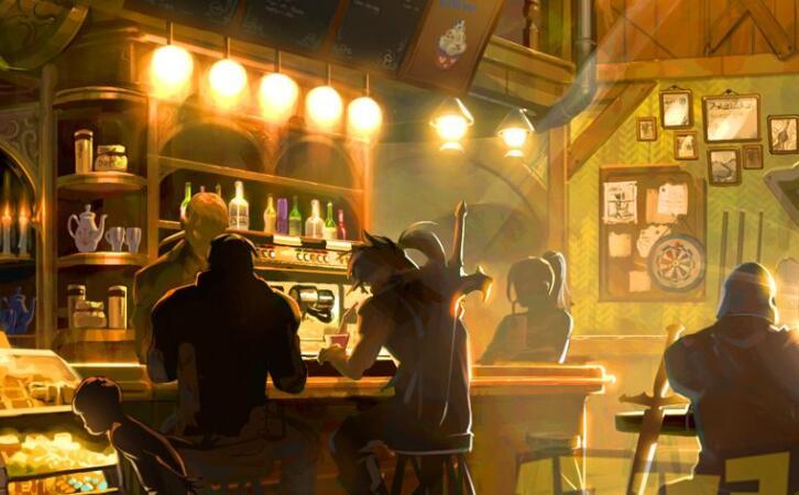 游戏酒吧里的朗姆酒
