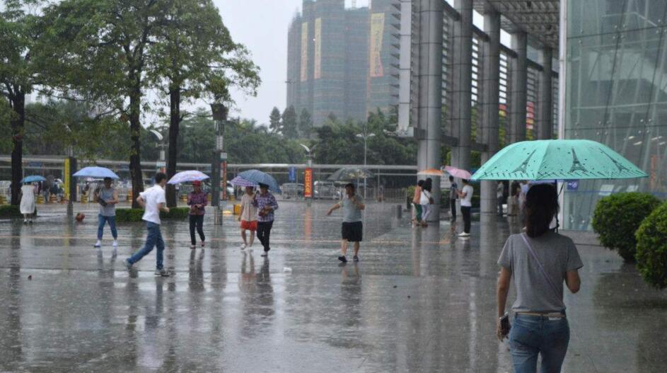 重庆湿漉漉的下雨天
