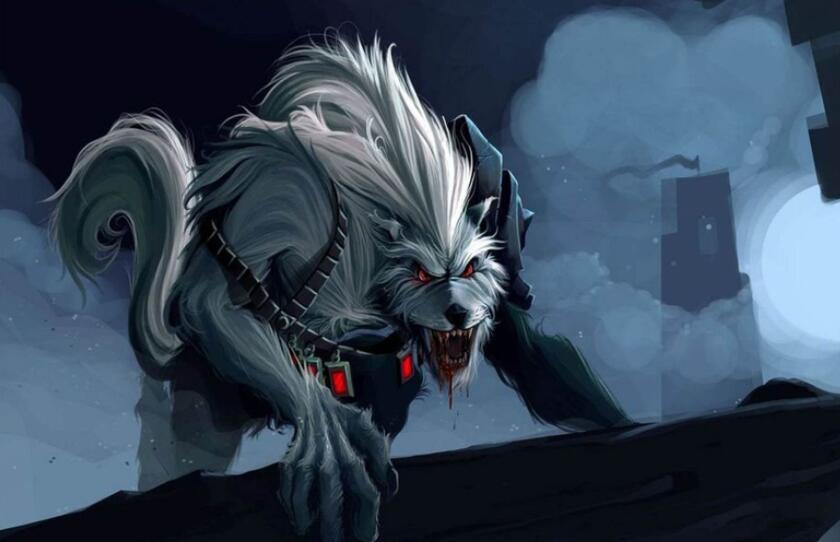 准备发动攻击的魔狼