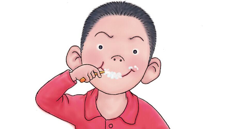 我正在宿舍刷着牙