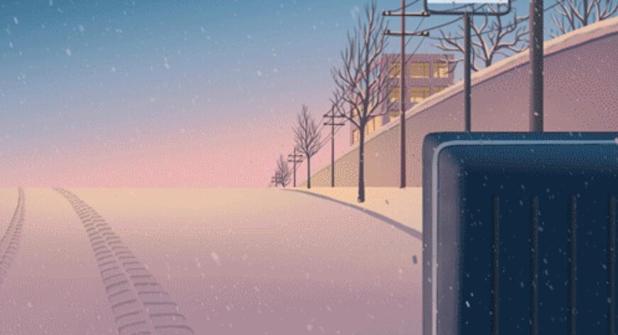 家乡下起了毛毛雪