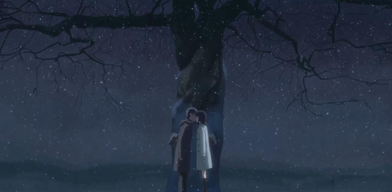 贵树和明理在樱花树下交换初吻